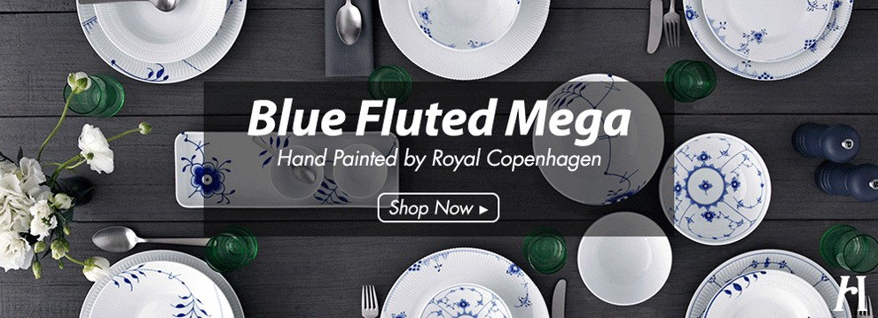 HomeP - Royal Copenhagen Blue Fluted Mega