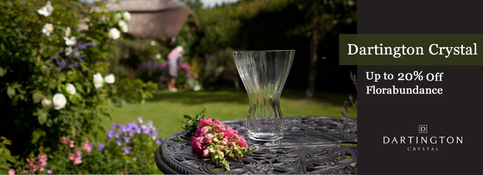 HomeP - Dartington Crystal Vases & Bowls 20% off