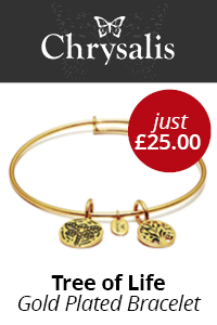 VertTop - Jewellery - Chrysalis Tree Of Life Gold Plated Bracelet