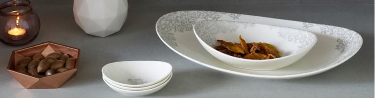 Denby Monsoon Filigree Silver China Tableware & Denby Monsoon Filigree Silver China Tableware - Havens