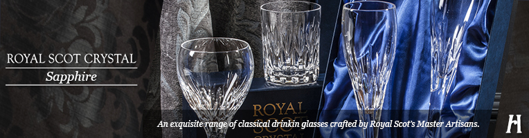 Royal Scot Crystal Sapphire Drinking Glasses