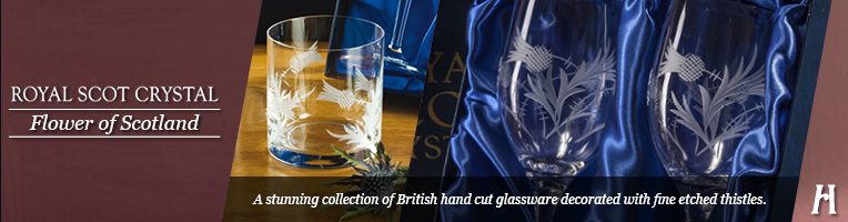 Royal Scot Crystal Flower of Scotland Drinking Glasses