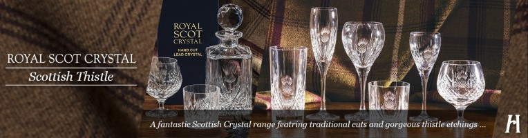 Royal Scot Scottish Thistle Glass Giftware