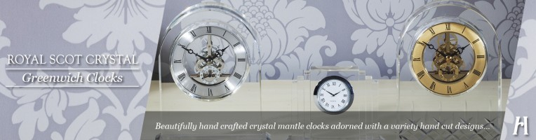 Royal Scot Crystal Greenwich Clocks