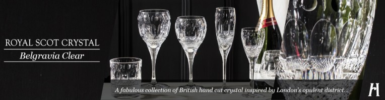 Royal Scot Crystal Belgravia Clear Drinking Glasses