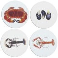 Set of 4 Shellfish Coasters (13187)