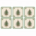 6 Christmas Tree Coasters (14432)