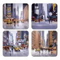 4 New York City Scapes Coasters (15393)
