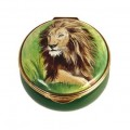 Lion Enamel Box (28337)