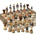 Hand Painted Battle of Trafalgar Chess Set (9677)