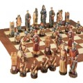 Hand Painted The Crusades Chess Set (9683)