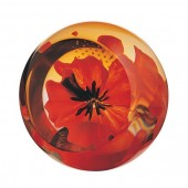 Caithness Glass Floral Charms Red Poppy Paperweight (10874)