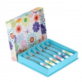 Crazy Daisy Set of 6 Pastry Forks (11170)
