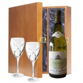 Drinking Gifts Luxury White Wine and Waterford Wine Glasses (11210)