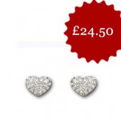 Swarovski Heart Pierced Earrings (11378)