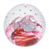 Caithness Glass Celebrations Congratulations Ruby Paperweight (1154)