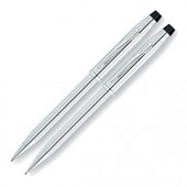 Century II Lustrous Chrome Ball Point Pen and Pencil Set (11724)