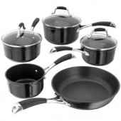 Stellar 3000 Black 5 Piece Saucepan Set (12033)