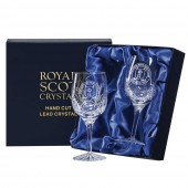 Engraved Golfer Crystal Wine Glasses (12350)