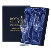 Engraved Golfer Crystal Flute Champagne Glasses (12351)