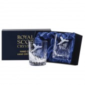 Engraved Golfer Crystal 7oz Whisky Tumblers (12353)