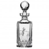 Engraved Golfer Crystal Square Spirit Decanter (12355)