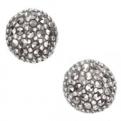 Marcasite and More Marcasite and Sterling Silver Round Shaped Pierced Earrings (12831)