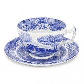 Blue Italian Breakfast Cup and Saucer (12997)
