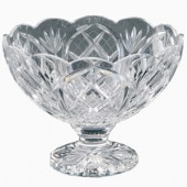 Heritage Irish Crystal 20cm Scalloped Footed Fruit Bowl (13450)