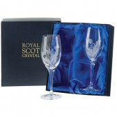 Flower of Scotland Set of 2 Small Wine Glasses (13774)
