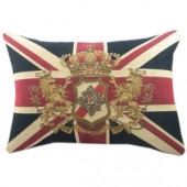 Medium Union Jack Lion Cushion (13837)