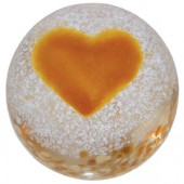Caithness Glass Paperweights Gold Heart (13873)