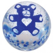 Caithness Glass Paperweights Teddy Bear Blue (13878)