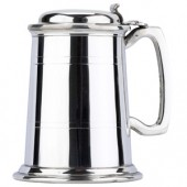 Tankards Pewter 1pt Commodore Tankard with Lid (13945)