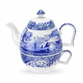 Blue Italian Tea For One Set (14097)