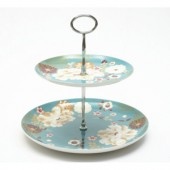 Maxwell & Williams Teal 2 Tier Cake Stand (14221)