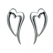 Just Add Love Remember Silver Hearts Earrings (14386)