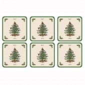 Christmas Tree Coasters Set of 6 (14432)