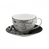 Monsoon by Denby Chrysanthemum Teacup and Saucer (14746)