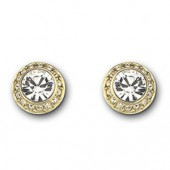 Swarovski Angelic Gold Plated Pierced Earrings (15040)