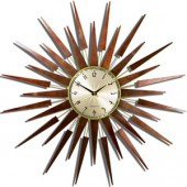Newgate Clocks Pluto Wall Clock In Dark Wood (15075)