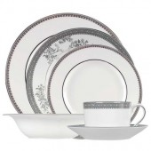 Vera Wang Lace Platinum 24 Piece Dinner Set (15108)