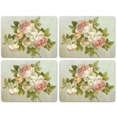 Pimpernel 4 Antique Rose Large Tablemats (15302)