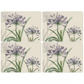 Pimpernel 4 RHS Agapanthus Large Tablemats (15321)