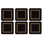 Pimpernel Black Coasters Set of 6 (15356)