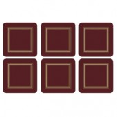 Classic Burgundy Coasters Set of 6 (15357)