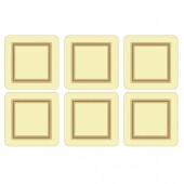 Classic Cream Coasters Set of 6 (15358)
