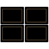 Pimpernel 4 Classic Black Large Tablemats (15360)