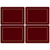 Pimpernel 4 Classic Burgundy Large Tablemats (15361)