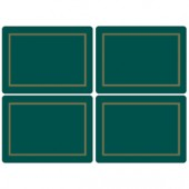 Pimpernel 4 Classic Emerald Green Large Tablemats (15363)